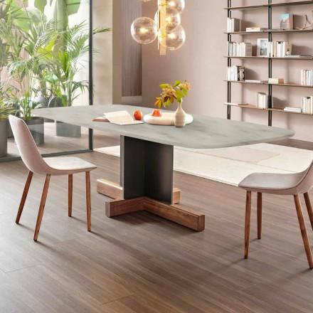 Nowoczesny stół do jadalni z marmurowym blatem Made in Italy - stół Bonaldo Cross