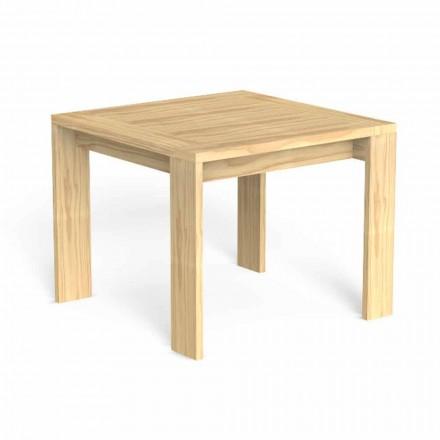 Kwadratowy stół do jadalni na zewnątrz ze szlachetnego drewna - Argo firmy Talenti