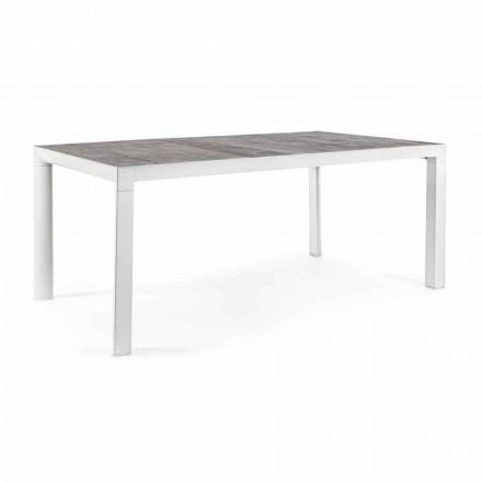 Stół do jadalni na zewnątrz z ceramicznym blatem i aluminiową podstawą - Jen