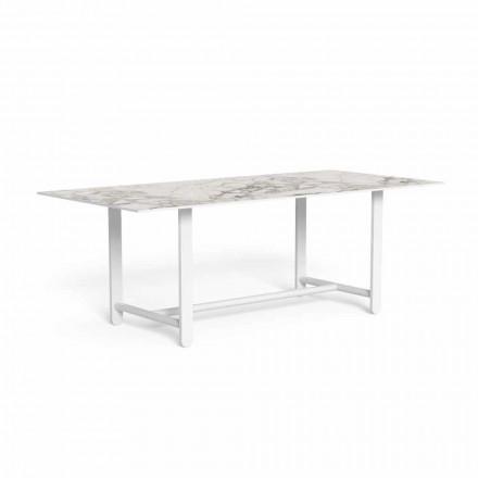 Stół do jadalni na zewnątrz z blatem gresowym, wysokiej jakości - Riviera by Talenti