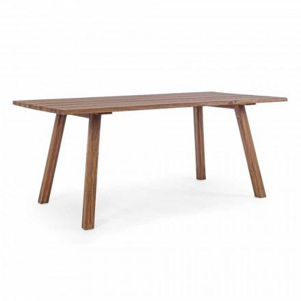 Stół do jadalni na zewnątrz w wykończeniu olejem z drewna akacji - Leonard