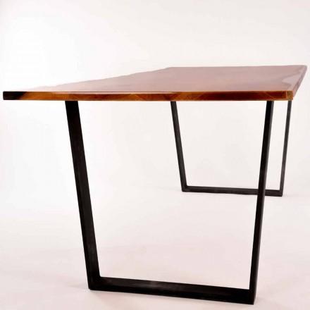 Prostokątny wzór drewniany stół wykonany we Włoszech Rino