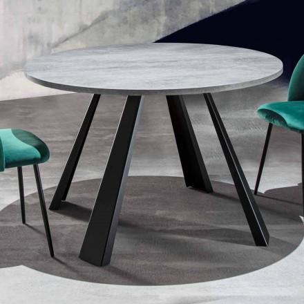 Okrągły stół z możliwością przedłużenia do 370 cm z drewna i metalu - Caimano