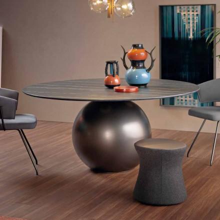 Okrągły stół do jadalni z metalową podstawą Made in Italy - Bonaldo Circus