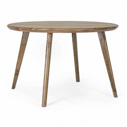 Okrągły stół do jadalni Homemotion z blatem z drewna mango - Rondolo