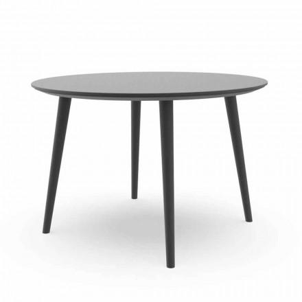 Okrągły stół ogrodowy w kolorze białym lub grafitowym aluminium - Sofy Talenti