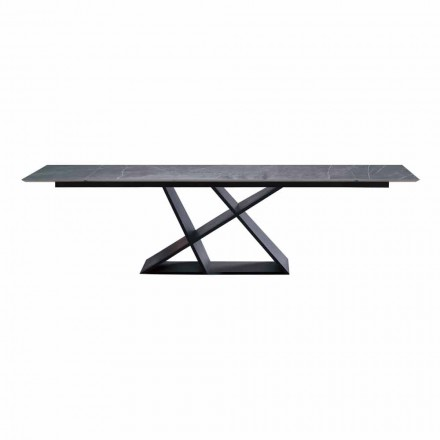 Luksusowy rozkładany stół do 294 cm z kamionkowym blatem Made in Italy - Cirio