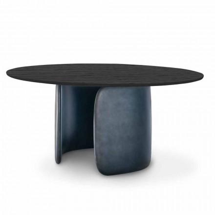 Zaprojektuj stół z okrągłym blatem z litego drewna Made in Italy - Mellow Bonaldo