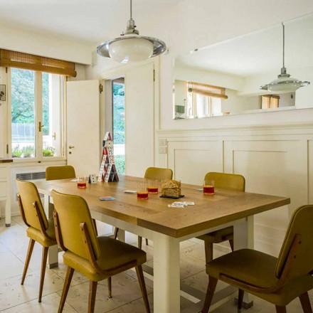 Nowoczesny stół z drewna dębowego L180xP100cm, Willis