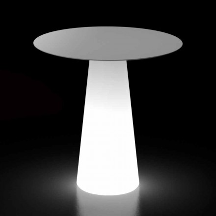 Stół do projektowania na zewnątrz z podstawą świetlną LED Made in Italy - Forlina