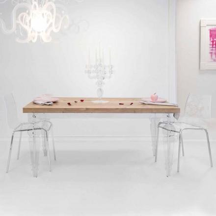 Zaprojektuj stół z drewna jodłowego i pleksi wyprodukowanego we Włoszech, Castro