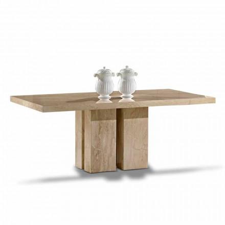 Luksusowy stolik o nowoczesnym designie, blat z marmuru Daino Made in Italy - Zarino