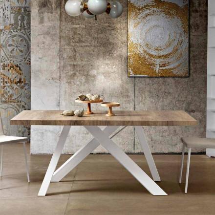 Nowoczesny rozkładany stół z drewna melaminowego wyprodukowany we Włoszech, Wilmer