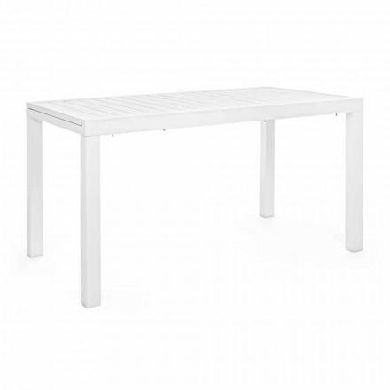 Rozkładany stół ogrodowy do 240 cm w kolorze białym lub aluminiowym Turtledove - Franz