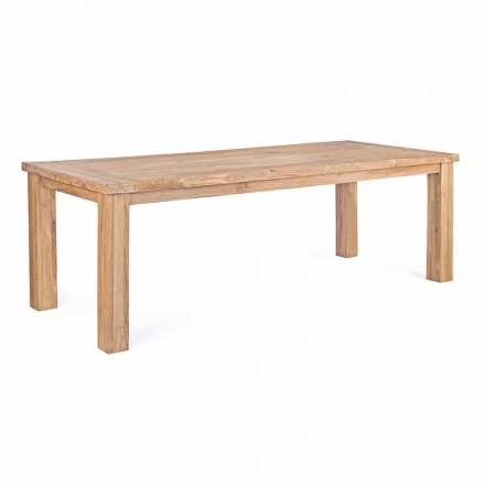 Stół ogrodowy w designie z drewna tekowego, 8 miejsc Homemotion - myśliwy
