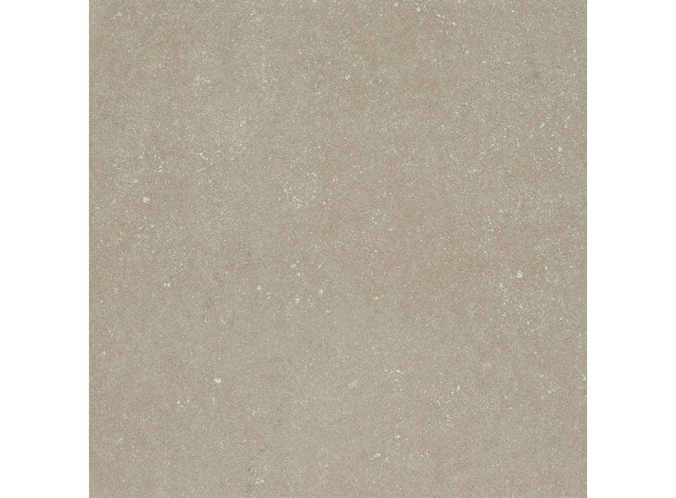 6-osobowy ceramiczny stół i nogi z białego drewna - Claudiano