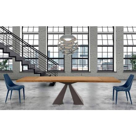 Nowoczesny rozkładany stół z drewna do 300 cm - Dalmata
