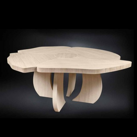 Stół z drewna dębu szczotkowany z wykończeniem woskowym Andy