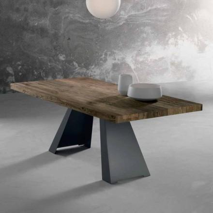 Stół z litego drewna wykonany we Włoszech, Zerba