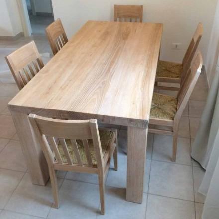 Klasyczny design Stół z litego drewna jesionowego Made in Italy - Nicea