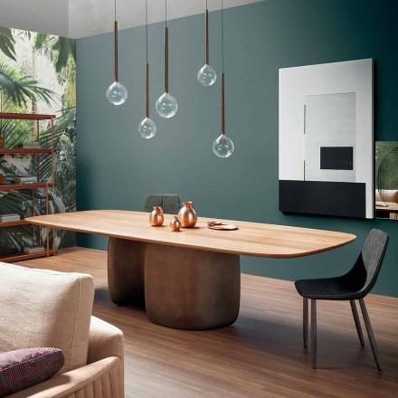 Nowoczesny stolik z litego drewna Made in Italy - Bonaldo Mellow