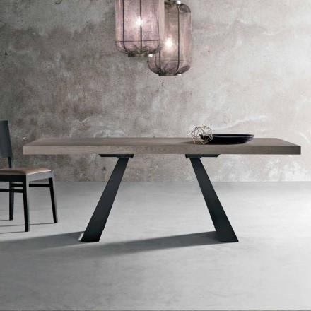 Nowoczesny stół w wiązanym drewnie dębowym z Włoch, Zerba