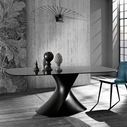 Nowoczesny stół w hartowanym szkle produkowanym we Włoszech, Clark