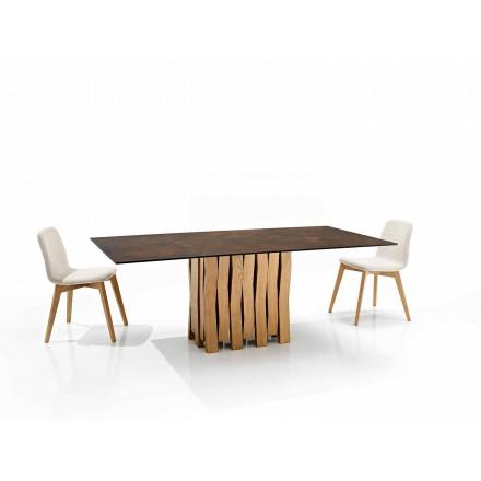 Nowoczesny stół ze szkła ceramicznego we Włoszech, Egisto