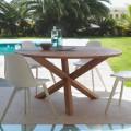 Mahoniowy stół okrągły do ogrodu Bridge by Talenti