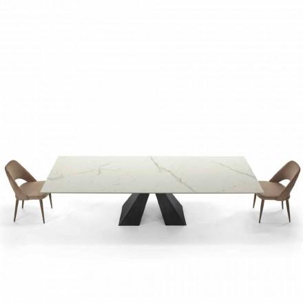 Nowoczesny rozkładany stół do 300 cm z marmuru Made in Italy - Dalmata