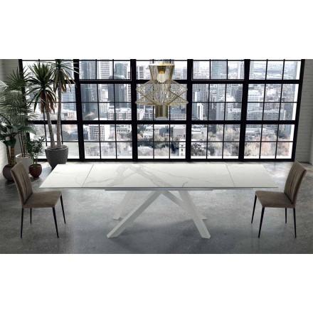 Nowoczesny rozkładany stół do 300 cm z marmuru Made in Italy - Settimmio