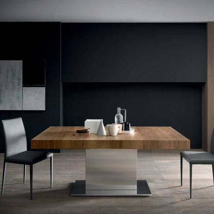 Nowoczesny rozkładany stół do 480 cm z drewna Made in Italy - Michael