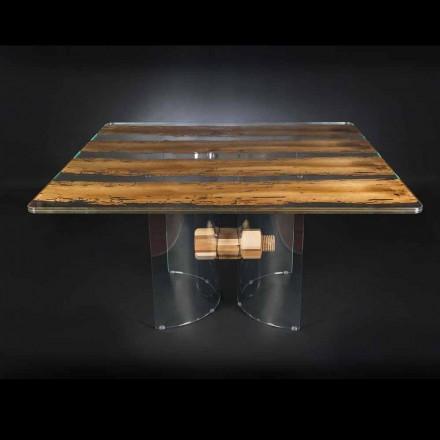 Stół design drewniano-szklany Venezia od Vgnewtrend