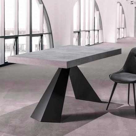 Stół do jadalni z rozkładanym blatem do 290 cm z drewna - Doriano