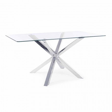 Stół do jadalni Homemotion z blatem ze szkła hartowanego - Denda