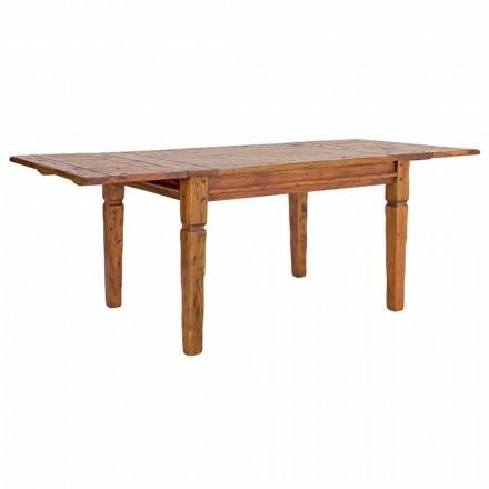 Klasyczny rozkładany stół do 290 cm z litego drewna Homemotion - Carbo