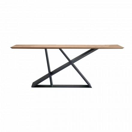 Stół rozkładany do 294 cm z drewna, jakość wyprodukowana we Włoszech - Cirio