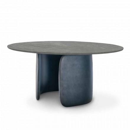 Stół do jadalni z ceramiki z podstawą poliuretanową Made in Italy - Mellow Bonaldo