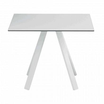Kwadratowy stół zewnętrzny z metalu i HPL Made in Italy - Deandre