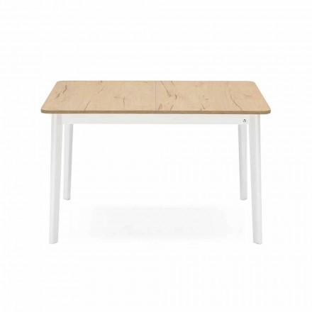 Prostokątny rozkładany stół do 170 cm w drewnie Made in Italy - Dine