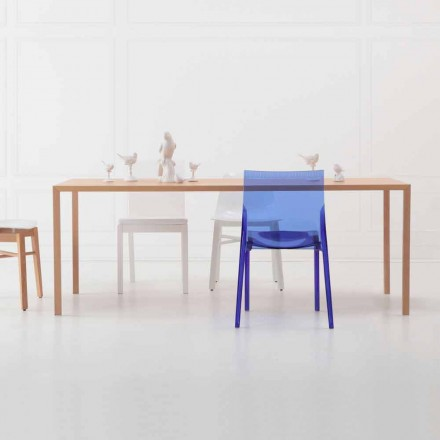 Nowoczesny prostokątny stół do jadalni z naturalnego drewna dębowego - Smart