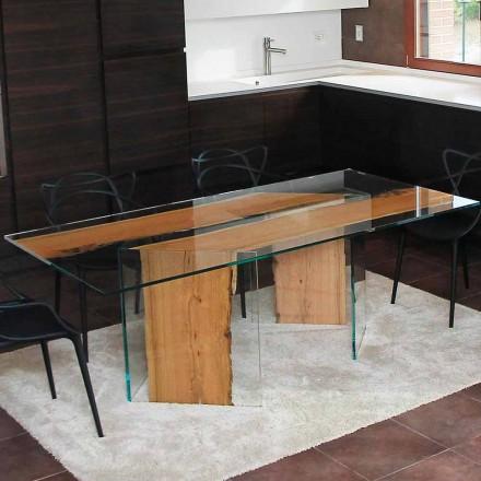 Stół prostokątny z weneckich słupków i szkła  San Marco