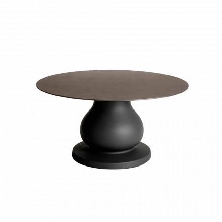 Klasyczny okrągły stół z HPL, średnica 140 cm - XIX wiek