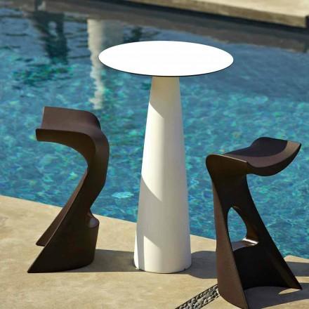 Stół okrągły do ogrodu z polietylenu i hpl Slide Hoplà(H110)