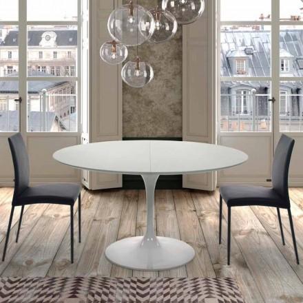 Rozsuwany okrągły stół do 170 cm w laminowanej Made in Italy - Dollars