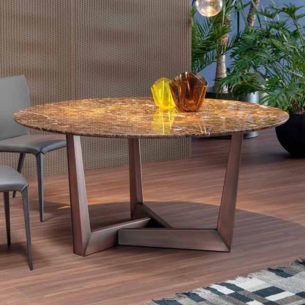 Okrągły stół z marmuru i metalu Made in Italy - Bonaldo Art