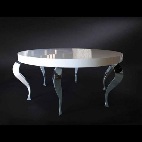 Okrągły stół w stylu nowoczesnym MDF i stali Luigi