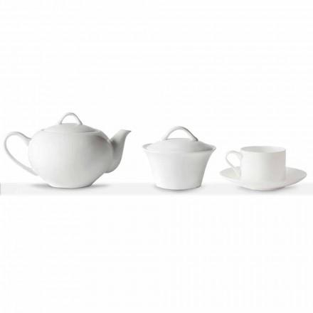 Filiżanki do herbaty do układania w stosy Serwis śniadaniowy 14 sztuk w porcelanie - Romilda
