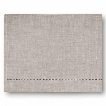 Nowoczesny ręcznik kąpielowy w kolorze kremowej bieli lub naturalnej lnu Made in Italy - Chiana