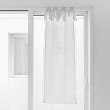 Zasłona z lnianej gazy i białej organzy o eleganckim designie - tapioka